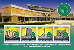 Popular Brand Togo 2017 Mnh Lome Extraordinary Summit African Union 4v M/s Archicture Stamps Strengthening Sinews And Bones Africa Togo