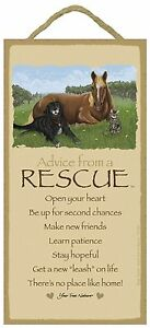 Advice from a Rescue Inspirational Wood Nature Sign Plaque Made in USA