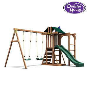 Childrens climbing frame swing sets slide monkey bars play for Free playhouse plans with slide