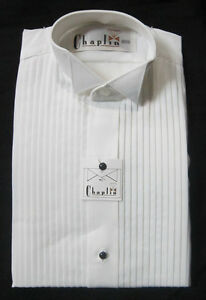 New-White-Mens-Small-Wing-Collar-Tuxedo-Shirt-Butterfly-Tip-Mason-Wedding-Prom