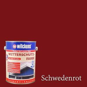 Turbo WILCKENS Wetterschutzfarbe Farbe Holz Holzschutz Schwedenrot 2,5L YX26