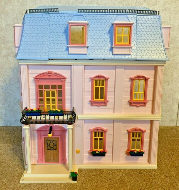 PLAYMOBIL 5303 Deluxe Dollhouse - nearly complete, doorbell works
