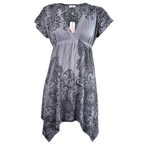 Innocent Lifestyle Smock Dress Ladies Grey Goth Emo Punk