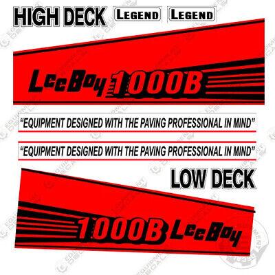 7 YEAR VINYL! LeeBoy 1000R Decal Kit Asphalt Paver Equipment Decals