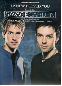 savage garden i knew i loved you sheet music piano vocal guitar chords new ebay. Black Bedroom Furniture Sets. Home Design Ideas