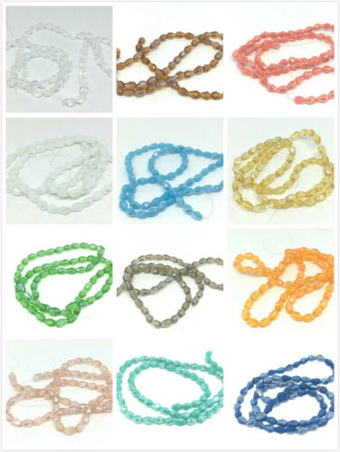 6x4mm Electroplate Glass Bead Strand Faceted Drop-Pls pick a color