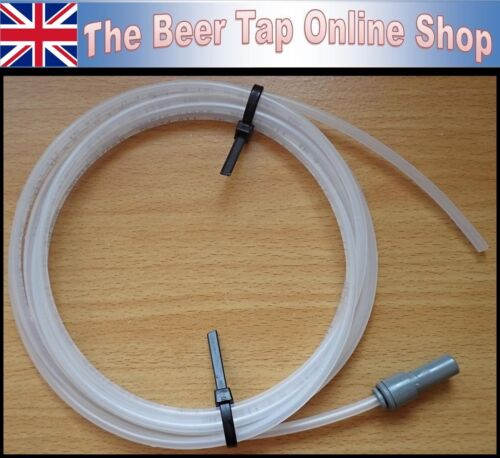 "3//16/"" Beer Line Pipe /& John Guest 3//8/"" Stem Reducer for Beer Tap /& Keg Coupler"