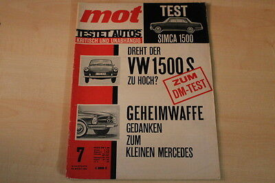 Mot 07/1964 Simca 1500 71850 Vw 1500 S