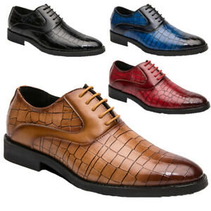 mens leather brogues lace up smart formal office casual