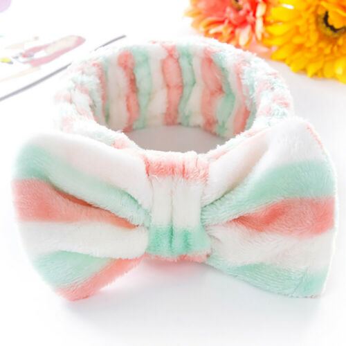 1pcs Headband Bow Knot Wash Face Headband Hiar Wrap Elastic Makeup Hairband new
