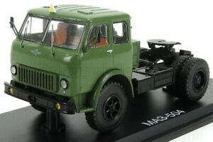 START SCALE MODELS 1/43 MAZ | 500A TRACTOR TRUCK 2-ASSI 1958 | MILTARY GREEN