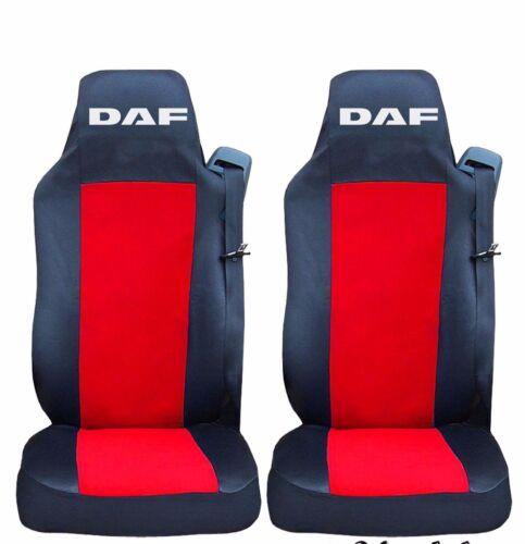 2 x Coprisedili rivestimenti riferimenti Nero//Rosso Camion DAF CF XF 105 euro 5