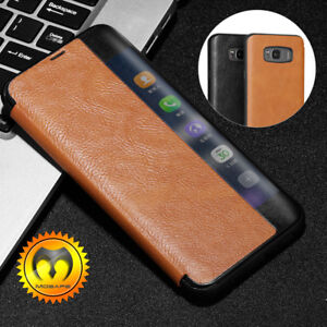 purchase cheap bed48 0da34 Details about For Samsung Galaxy S8 Plus S8 Leather Flip Full Cover  Protective Shockproof Case