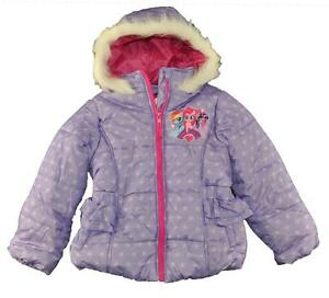 fba3c9e9a Details about My Little Pony Girls Purple Printed Puffer Coat Size 4 5 6 6X