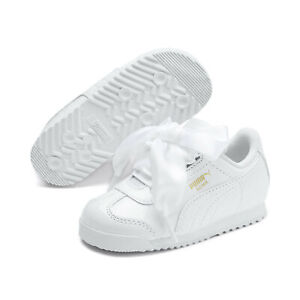 Details about PUMA Infant Girl's Roma Heart Patent Shoes