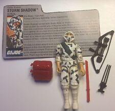 GI Joe 1988 STORM SHADOW Ninja v2 100% complete C9 shape File Card