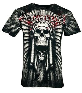 XTREME-COUTURE-by-AFFLICTION-Men-T-Shirt-PALA-tatto-Skull-Biker-MMA-UFC-S-4X-40