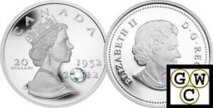 2012-Queen-039-s-Diamond-Jubilee-1952-2012-Crystalized-Prf-20-Sil-Coin-9999-12816