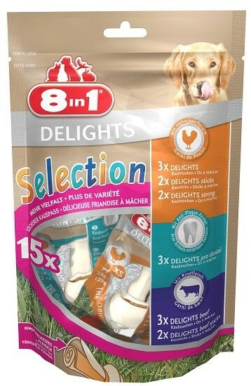 8in1 Hundesnack Delights Selection XS