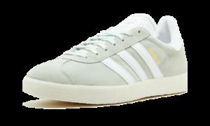 Adidas Originals Para Hombre Gazelle BZ0023 lino verde, terrazas tamaños enumerados De Gamuza
