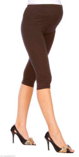 NEUF Cropped Confortables Maternité Coton Leggings 3//4 Longueur Grossesse-mtr3//4