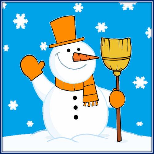 30 Custom Orange Simple Snowman Personalized Address Labels