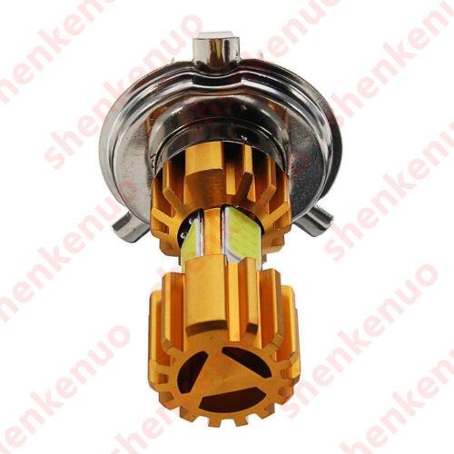 3 COB LED Chip Motorbicycle H4 Headlight Bulb 6000K Hi//Lo Beam Light Cool White