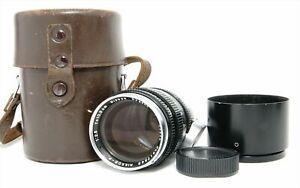 Nikon Nikkor P.C 10.5cm 105mm f2.5 Vintage Lens Leica Screw Mount LTM L39 Hood