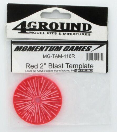 "Game Accessory NIB 4Ground MG-TAM-116R Red 2/"" Blast Template Momentum Games"