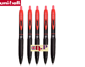5 x Uni-ball Signo 307 0.7mm Tip Gel Ink Rollerball Red Pen CHEAP