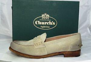 original-CHURCH-039-S-Gr-39-College-Zapatilla-Bajo-Zapatos-Zapatos-beige-arena-nuevo