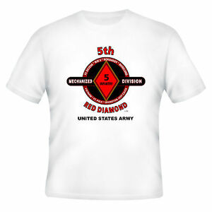 5TH-INFANTRY-DIVISION-MECHANIZED-034-RED-DIAMOND-034-BATTLE-amp-CAMPAIGN-SHIRT
