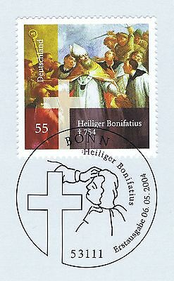 Willensstark Brd 2004: Heiliger Bonifatius Nr. 2401 Mit Bonner Ersttagssonderstempel! 1a 1511 Bestellungen Sind Willkommen.