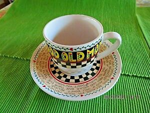 "Mary Engelbreit ""Good Old Mom"" cup/saucer-Andrew McMeel-Motherly warnings"