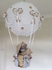 Hot Air Balloon Lámpara Luz Sombra Beige