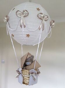 Details About Me To You Teddy Hot Air Balloon Nursery Light Shade Beige Made Order