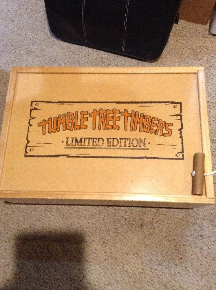 TUMBLE TREE TIMBERS BUILDING LOGS LIMITED EDITION WITH WOODEN STORAGE 300+Pieces