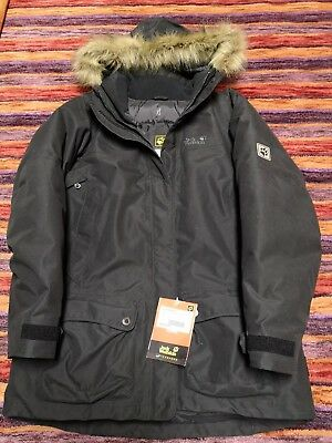 Jack Wolfskin Anchorage Parka Women black Größe L | eBay