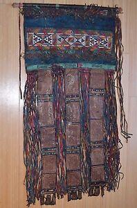 Antik-Tuareg-Stamm-Zelt-Vorhang-Graviert-Leder-Fenster-Haenge-Mali-Afrika