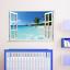 Hawaii-paisaje-falso-Ventana-Pared-Adhesivo-Decoracion-Hogar-Sala-de-Estar-Arte-Calcomanias-PVC miniatura 3