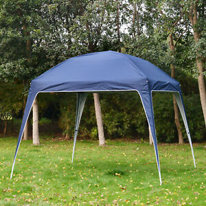 Outsunny 9.75x9.75ft Instant Sun Shelter Pop Up Canopy Tent Slant Legs Blue