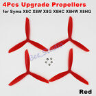 New Upgrade 3blade Propeller Spare Parts for Syma X8C X8W X8G X8HC X8HW X8HG Red