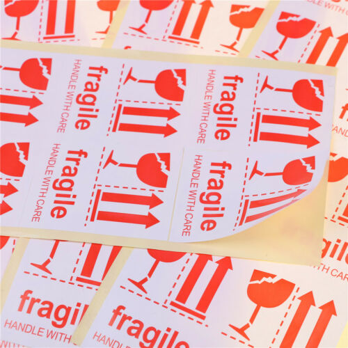 40pcs Fragile Handle With Care 7*5cm Adhesive Shipping Warning Label Sticker RDR