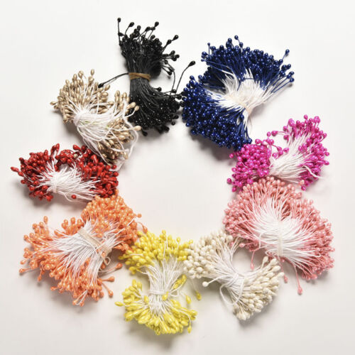 280PCS Artificial Flower Stamen Double Tip Pearlized Craft Cakes Decoration