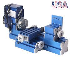 Mini Motorized Lathe Milling Machine Metalworking Turning Lathe Woodworking