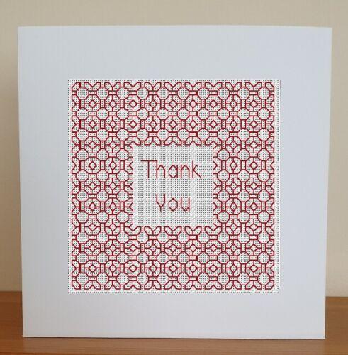 Tarjeta de puntada cruzada contada Kit-gracias