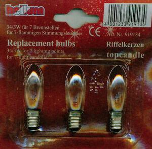 3W-E10-Birne-Kerzen-Lampe-Gluehbirne-Leuchtmittel-Riffelkerze-3er-Set-34V