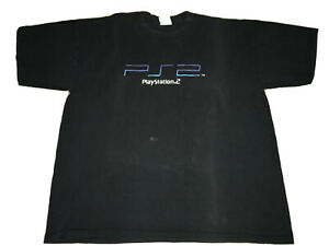 RARE-Vintage-AUTHENTIC-PLAYSTATION-2-PS2-PS5-LAUNCH-Shirt-XL-Video-Promo-RARE