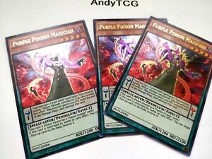 3X-PURPLE-POSION-MAGICIAN-1ST-ED-ULTRA-RARE-NM-PEVO-EN006-YUGIOH