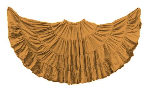 Cotton 25 Yard 4 Tier Gypsy Skirt Tier Belly Dance Tribal Flamenco Ethnic Tiered